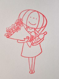 Clearstamp bouquet print
